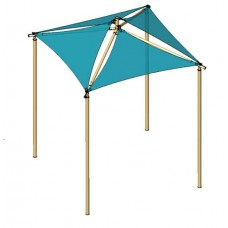 10X10 Quad Sail Shade Square 8 foot height