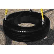Black Tire with Coated Chain